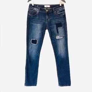 Cabi Patchwork Slim Boyfriend Jeans, #5308, Size 4